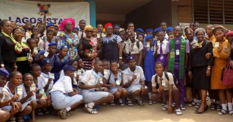A cross section of the students diplomatic corps